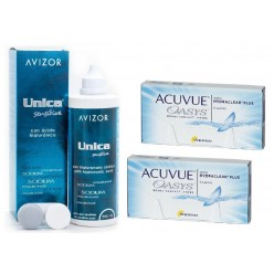 Acuvue Oasys with Hydroclear 2 Упаковки + Unica Sensitive 350