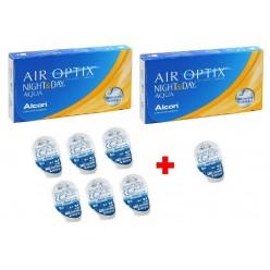 Air Optix Night & Day Aqua 2 Упаковки +1 линза