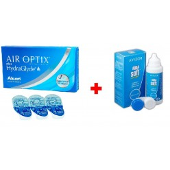 AIR OPTIX plus HydraGlyde Упаковка -3.75 + Aqua Soft 60ml