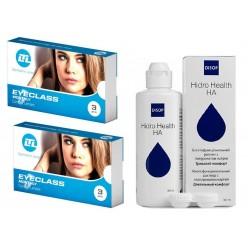 Eyeclass Monthly Две Упаковки  и раствор Hidro Health HA 360 мл